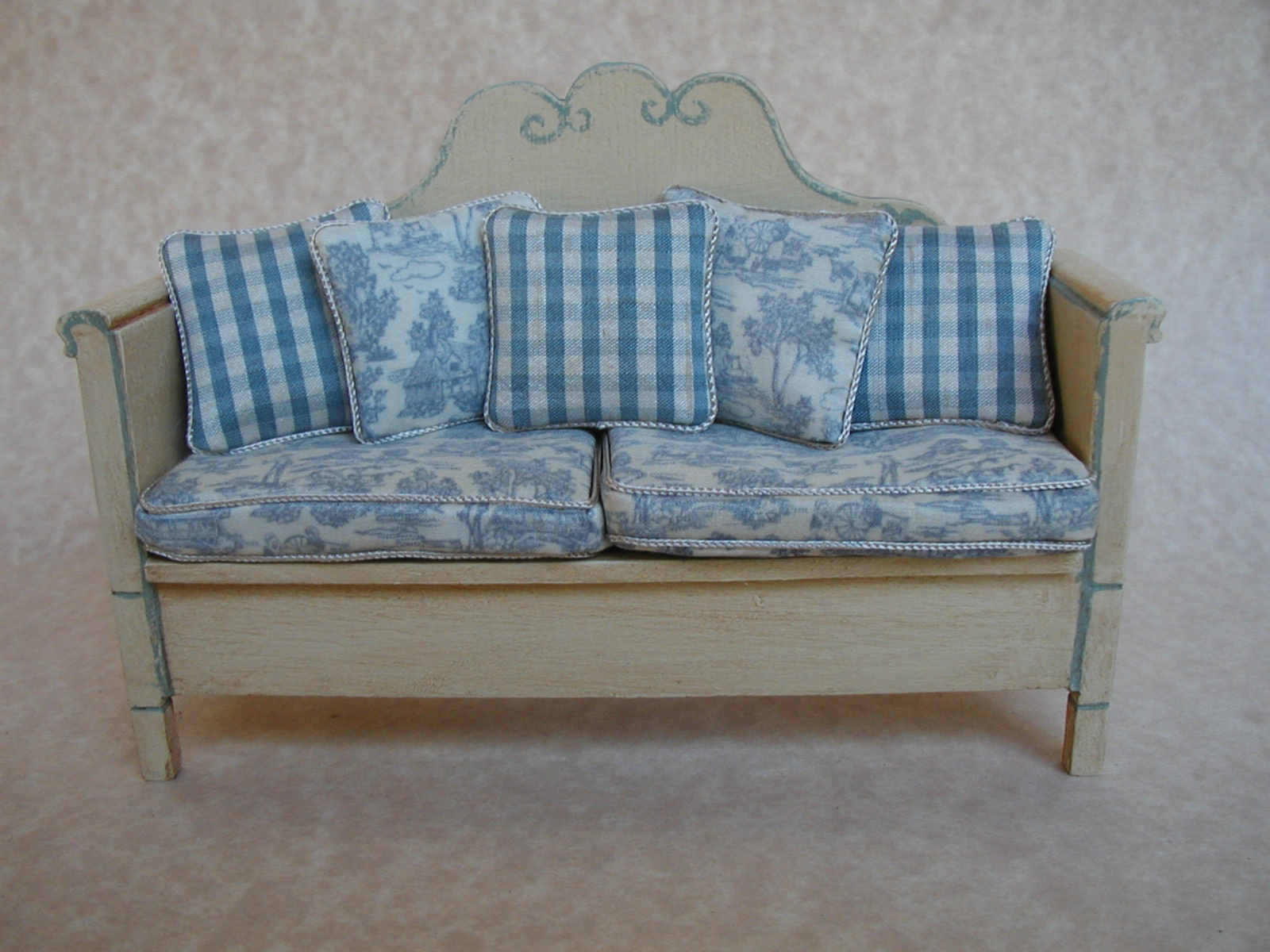 FRENCH BENCH - BLUE