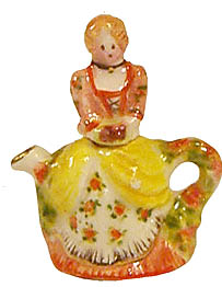 CHELSEA TEAPOT- YELLOW/ORANGE