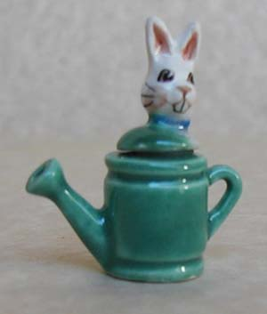 RABBIT IN WATERING CAN TEAPOT
